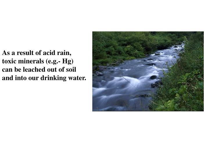 As a result of acid rain,