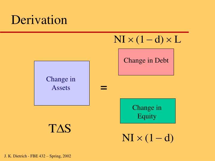 Change in Debt