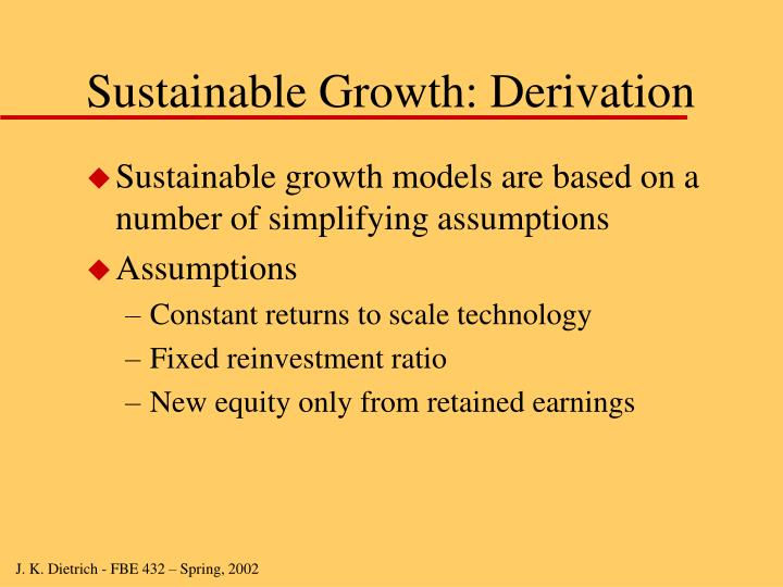 Sustainable Growth: Derivation