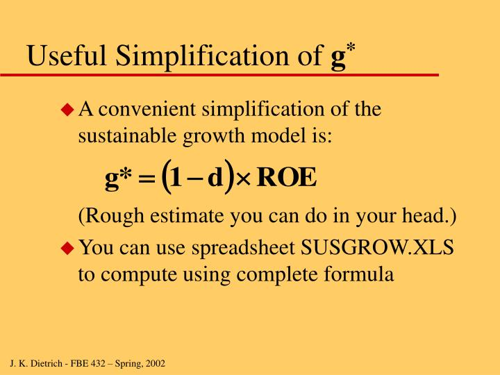 Useful Simplification of