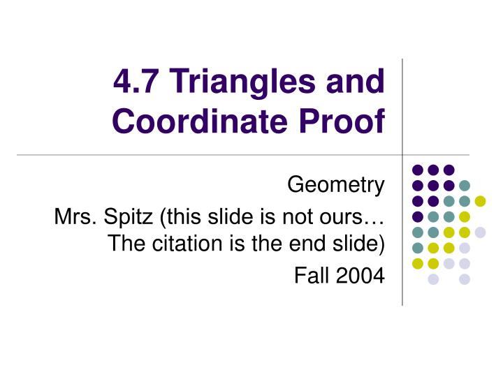 4 7 triangles and coordinate proof n.