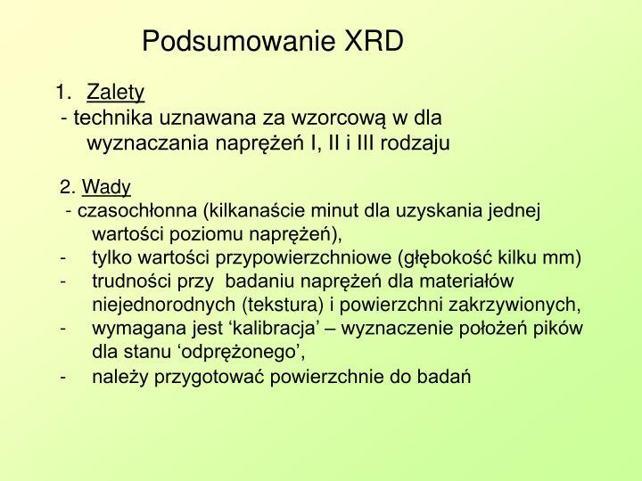 Podsumowanie XRD