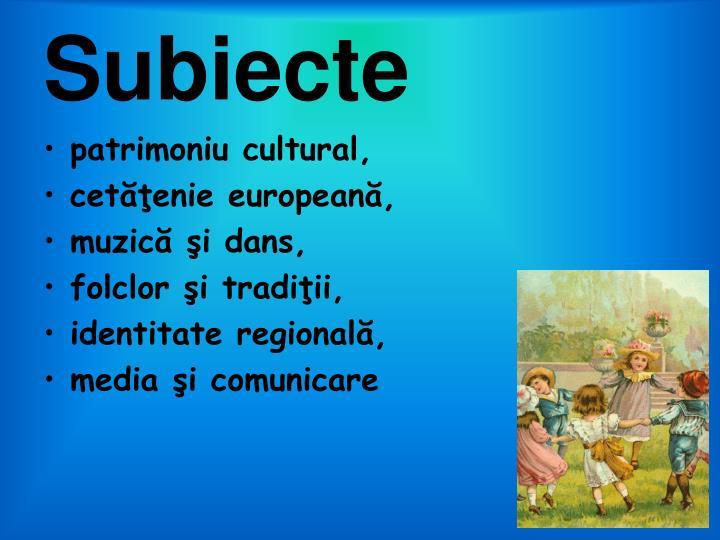 Subiecte