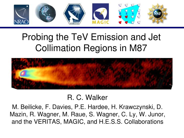 probing the tev emission and jet collimation regions in m87 n.
