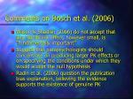 comments on bosch et al 2006