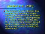 lilienfeld et al 2003