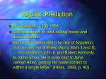 psychic prediction