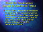 should the pseudoscience concept be abandoned cont