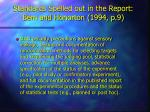 standards spelled out in the report bem and honorton 1994 p 9