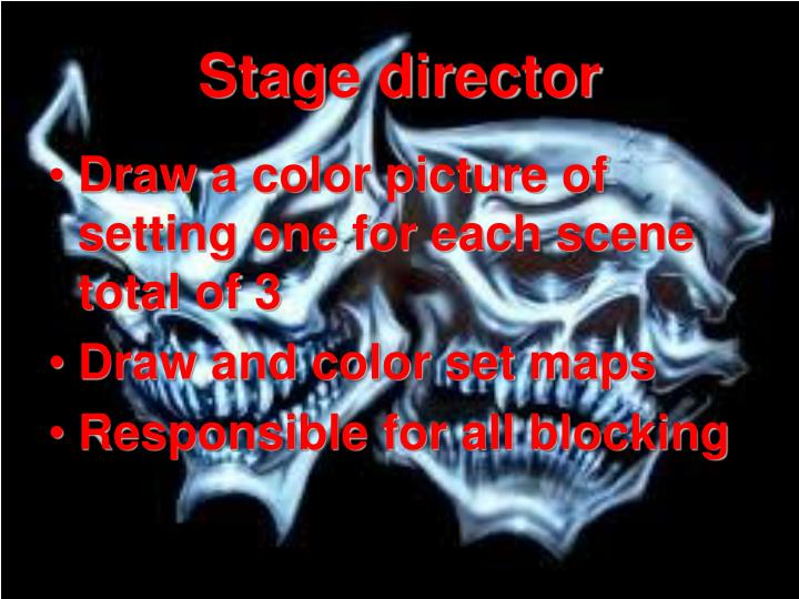 Stage director