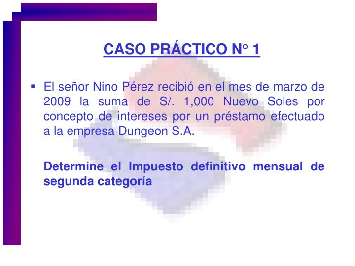 CASO PRÁCTICO N° 1