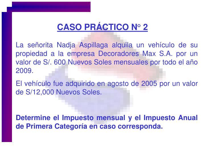 CASO PRÁCTICO N° 2