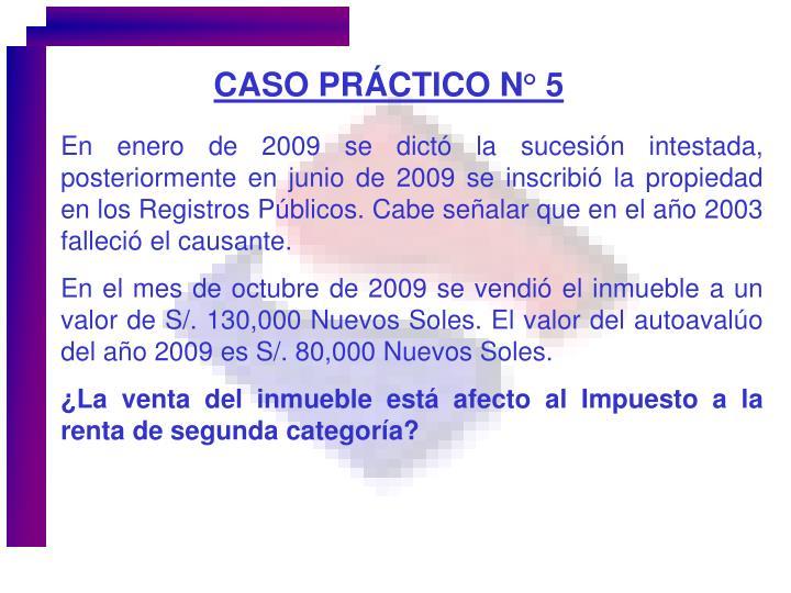 CASO PRÁCTICO N° 5