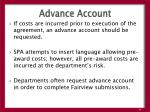 advance account