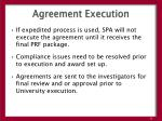 agreement execution