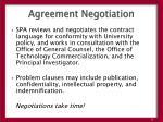 agreement negotiation