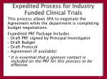 expedited process for industry funded clinical trials