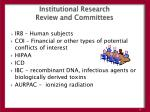 institutional research review and committees