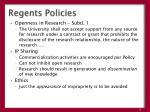 regents policies