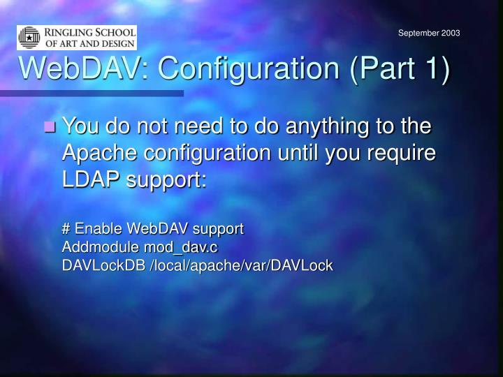 WebDAV: Configuration (Part 1)