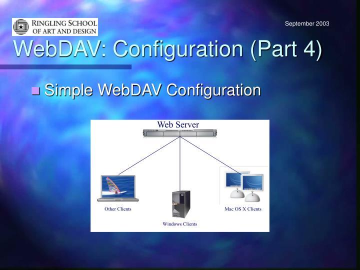 WebDAV: Configuration (Part 4)