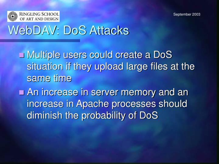 WebDAV: DoS Attacks