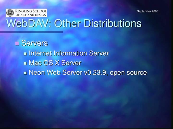 WebDAV: Other Distributions