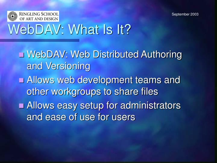 Webdav what is it