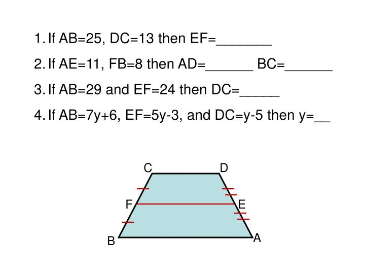 If AB=25, DC=13 then EF=_______