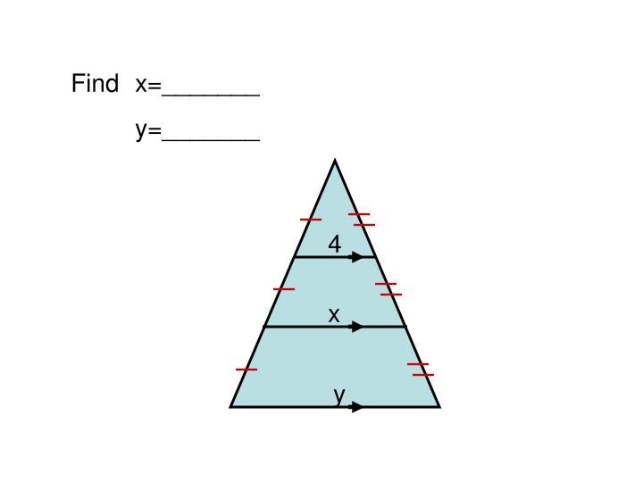 Find x=_______