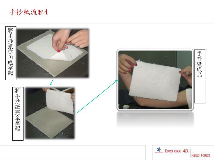 手抄紙流程