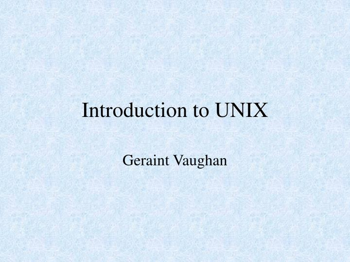 introduction to unix n.