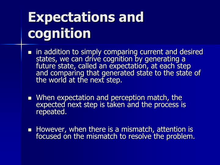Expectations and cognition