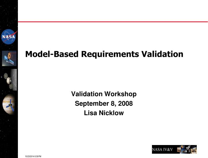 model based requirements validation n.