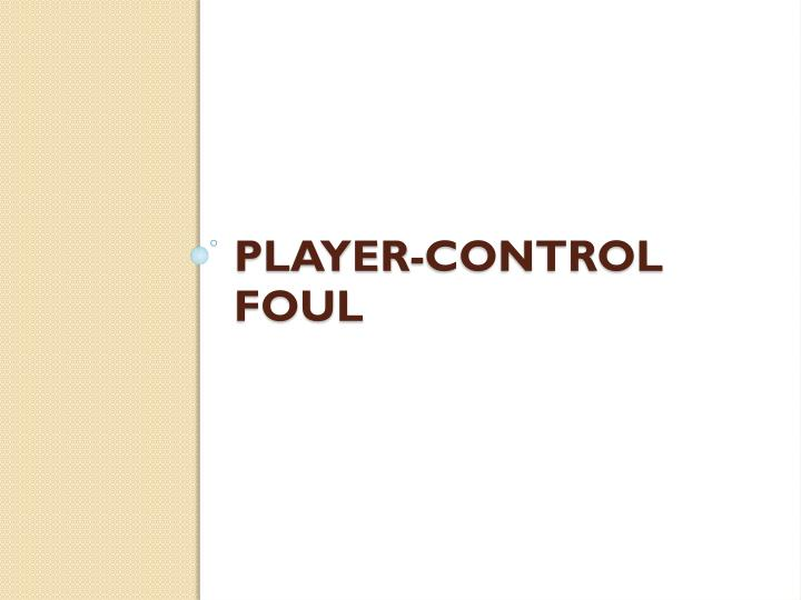 Player-Control Foul