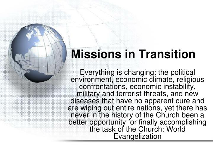 missions in transition n.