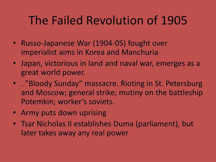 The Failed Revolution of 1905