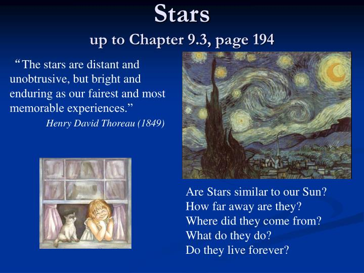 stars up to chapter 9 3 page 194 n.