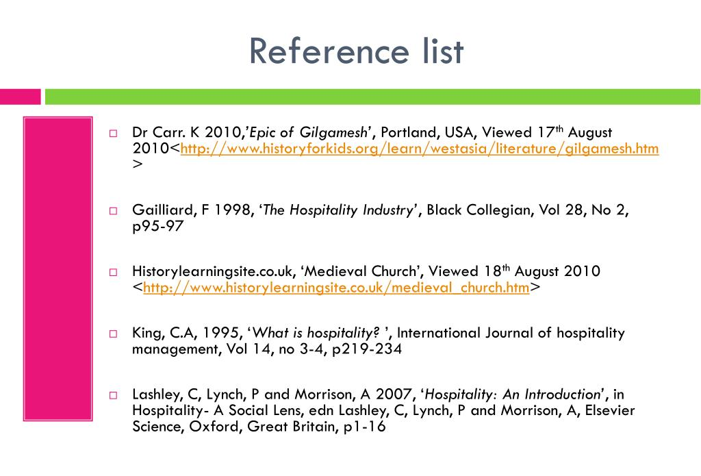 PPT - Topic 2- Continuities in the history of hospitality