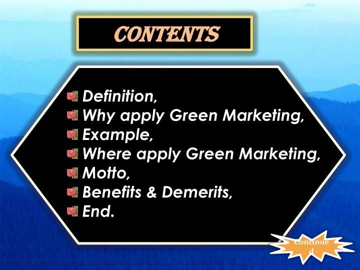 benefits of green marketing ppt