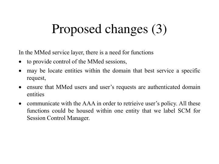 Proposed changes (3)