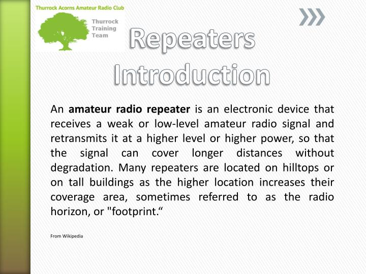 repeaters introduction n.