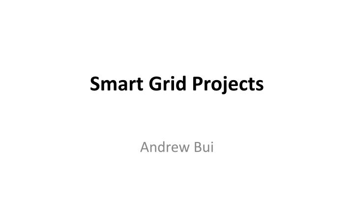 smart grid projects n.