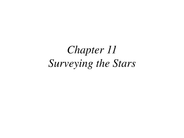 chapter 11 surveying the stars n.