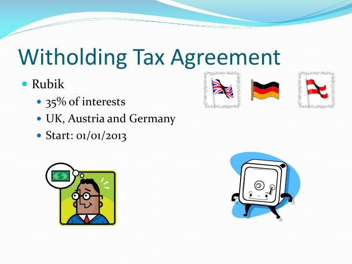 Witholding Tax Agreement