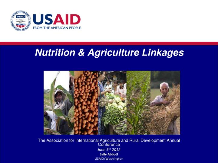 nutrition agriculture linkages n.