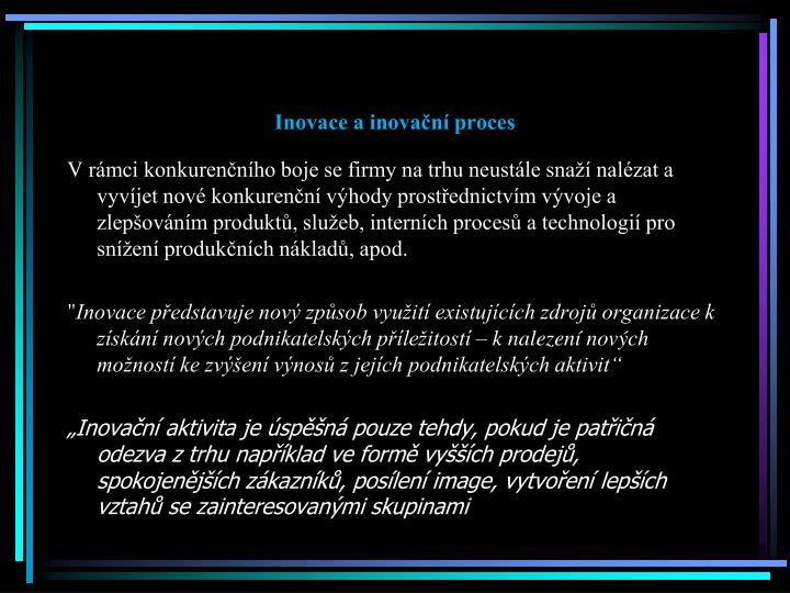 Inovace a inovační proces