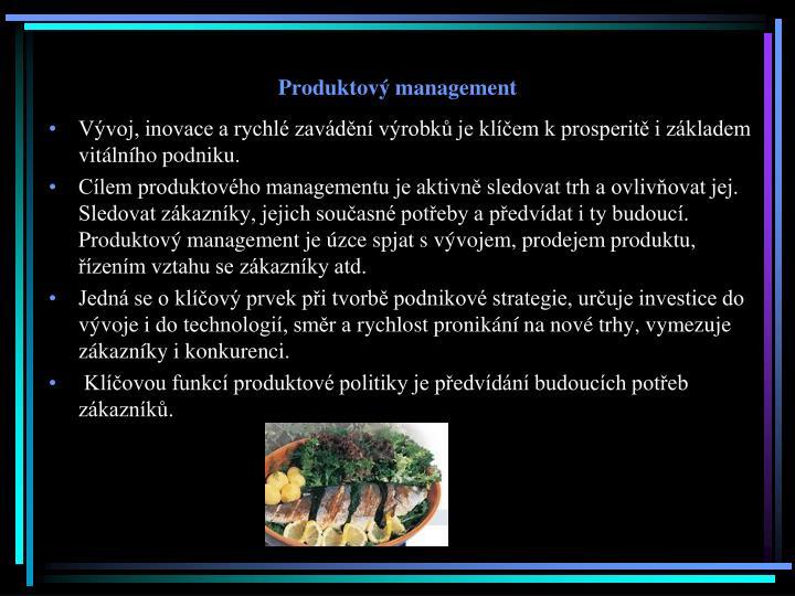 Produktový management