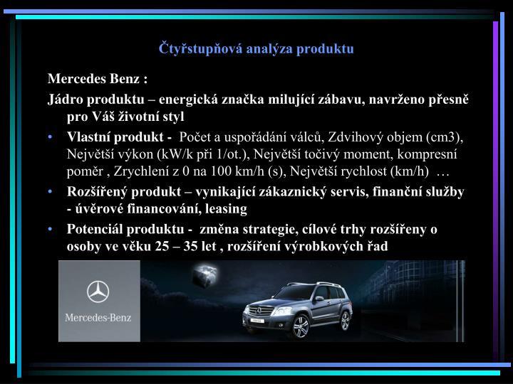 Čtyřstupňová analýza produktu