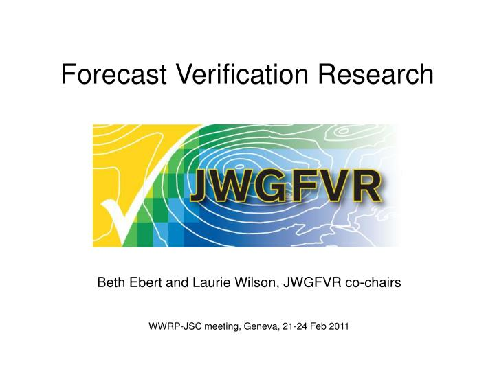 forecast verification research n.